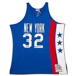 """Julius """"Dr. J"""" Erving Signed Nets Limited Edition Jersey Inscribed """"ABA MVP 74, 75, 76"""" (UDA COA)"""