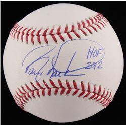 """Barry Larkin Signed OML Baseball Inscribed """"HOF 2012"""" (JSA COA)"""