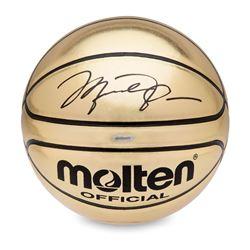 Michael Jordan Signed Molten Gold Trophy Basketball (UDA COA)