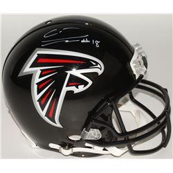 Calvin Ridley Signed Falcons Full-Size Authentic On-Field Helmet (Beckett COA)