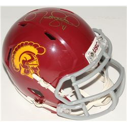 Matt Leinart Signed USC Trojans Mini Speed Helmet (Beckett COA)