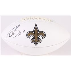 Drew Brees Signed Saints Logo Football (Beckett COA)