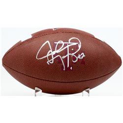 Johnny Manziel Signed Texas AM Aggies Logo Football (PSA COA)
