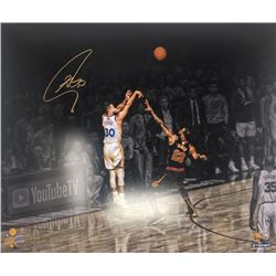 """Stephen Curry Signed Warriors """"Three Point Shot"""" 20x24 Limited Edition Photo (Steiner COA)"""