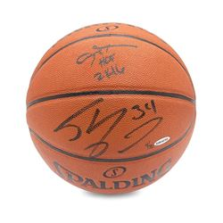 """Allen Iverson  Shaquille O'Neal Signed Limited Edition Basketball Inscribed """"2K16"""" (UDA COA)"""
