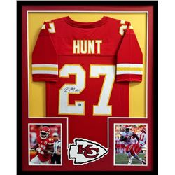 Kareem Hunt Signed Chiefs 34x42 Custom Framed Jersey (Kareem Hunt Hologram)