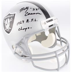 """Billy Cannon Signed Raiders Full-Size Helmet Inscribed """"1967 A.F.L. Champs"""" (Radtke COA)"""
