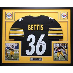 """Jerome Bettis Signed Steelers 35"""" x 43"""" Custom Framed Jersey (JSA COA)"""