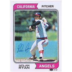 Nolan Ryan Signed Angels 10x14 Topps Photo (MLB Hologram  Ryan Hologram)