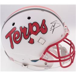 Stefon Diggs Signed Maryland Terrapins Full Size Helmet (Radtke COA)