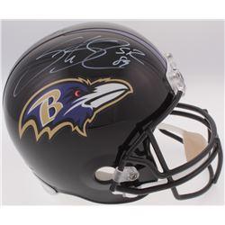 Steve Smith Sr. Signed Ravens Full-Size Helmet (Radtke COA  Smith Hologram)