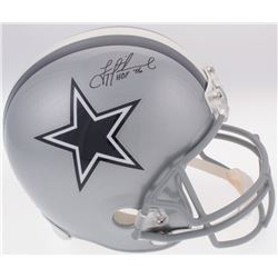 """Troy Aikman Signed Cowboys Full-Size Helmet Inscribed """"HOF '06"""" (Radtke Hologram  Aikman Hologram)"""