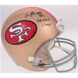 "Wesley Walls Signed 49ers Throwback Full-Size Helmet Inscribed ""SB XXIV Champ"" (Radtke COA)"