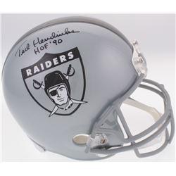 "Ted Hendricks Signed Raiders Full-Size Throwback Helmet Inscribed ""HOF '90"" (JSA COA)"