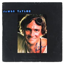"James Taylor Signed ""Dad Loves His Work"" Vinyl Record Album Cover (JSA COA)"