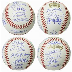 Cubs 2016 World Series Series Baseball Team-Signed by (22) with Ben Zobrist, Theo Epstein, Javier Ba
