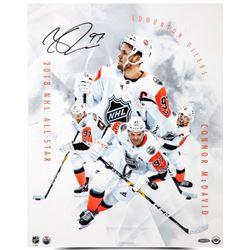 "Connor McDavid Signed Oilers ""All-Star Collage"" 16x20 Photo (UDA COA)"