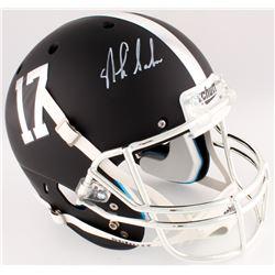 Nick Saban Signed Alabama Crimson Tide Custom Matte Black Full-Size Helmet (Radtke COA)