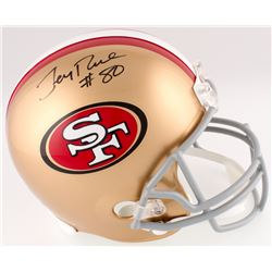 Jerry Rice Signed 49ers Full-Size Helmet (Radtke COA)