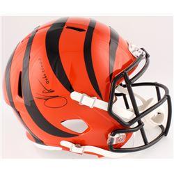 "Chad ""Ocho Cinco"" Johnson Signed Bengals Full-Size Speed Helmet Inscribed ""Ocho Cinco"" (JSA COA)"
