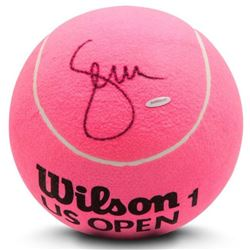 Serena Williams Signed Jumbo Wilson Pink Tennis Ball (UDA COA)