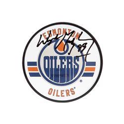 Wayne Gretzky Signed Oilers Acrylic Hockey Puck (UDA COA)