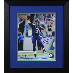 Russell Wilson Signed Seahawks 14x18.5 Custom Framed Photo Display (Wilson COA)