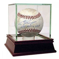 """Clint Frazier Signed Game-Used Baseball Inscribed """"NYY Stadium Debut"""" with High Quality Display Case"""