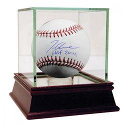 "Tom Glavine Signed Baseball Inscribed ""HOF 2014"" with High Quality Display Case (Steiner COA)"