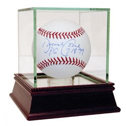 """David Cone Signed OML Baseball Inscribed """"P.G. 7-18-99"""" with High Quality Display Case (Steiner COA)"""