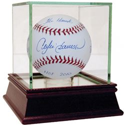 Andre Dawson Signed Baseball with (6) Inscriptions  High Quality Display Case (Steiner COA)