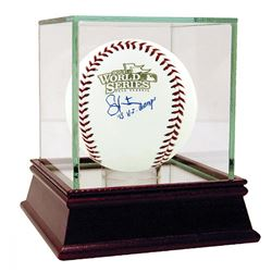 """Shane Victorino Signed 2013 World Series Baseball Inscribed """"'13 W.S. Champs"""" with High Quality Disp"""