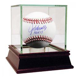 "John Smoltz Signed Baseball Inscribed ""HOF 2015"" with High Quality Display Case (JSA Hologram  Stein"