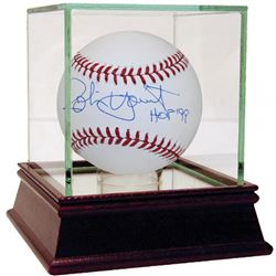 """Robin Yount Signed Baseball Inscribed """"HOF 99"""" with High Quality Display Case (Steiner COA)"""