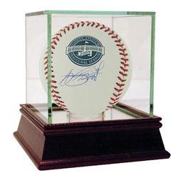A. J. Burnett Signed Yankee Stadium Inaugural Season Baseball with High Quality Display Case (Steine