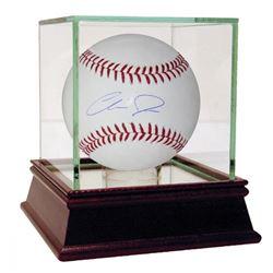 Chris Davis Signed OML Baseball with High Quality Display Case (Steiner COA)