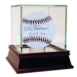 """Bob Gibson Signed OML Baseball Inscribed """"3117 Ks"""" with High Quality Display Case (Steiner COA)"""