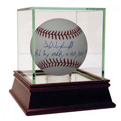 """Dave Winfield Signed Baseball Inscribed """"Drafted by MLB NBA ABA NFL"""" with High Quality Display Case"""