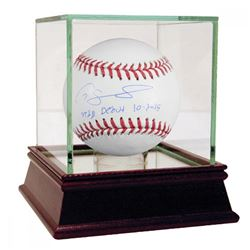 "Gary Sanchez Signed Baseball Inscribed ""MLB Debut 10/3/15"" with High Quality Display Case (Steiner C"