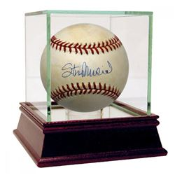 Stan Musial Signed ONL Baseball with Display Case (JSA Hologram)