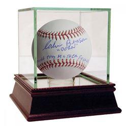 """Corbin Bernsen Signed MLB Baseball Inscribd """"Dorn""""  """"Strike This Mother F***er Out"""" (Steiner COA)"""
