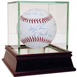"Dwight ""Doc"" Gooden Signed OML Baseball with Inscriptions  High Quality Display Case (Steiner COA)"