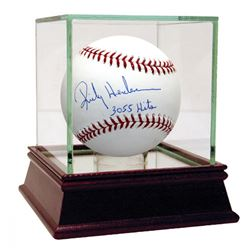 "Rickey Henderson Signed Baseball Inscribed ""3055 Hits"" with High Quality Display Case (Steiner COA)"