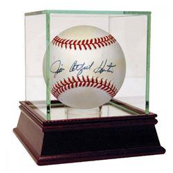 """Jim """"Catfish"""" Hunter Signed OAL Baseball (PSA Hologram)"""