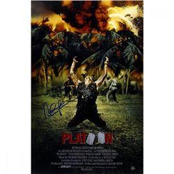 "Charlie Sheen Signed ""Platoon"" 11x17 Poster (Steiner COA)"