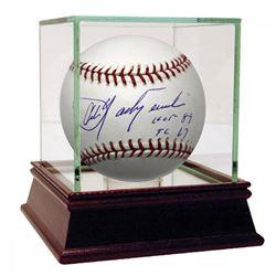 "Carl Yastrzemski Signed Baseball Inscribed ""HOF 89""  ""TC 67"" with High Quality Display Case (Steiner"