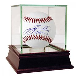 "Jeff Bagwell Signed Baseball Inscribed ""HOF 17"" with High Quality Display Case (Tristar Hologram)"