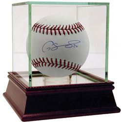 Gary Sanchez Signed Baseball with High Quality Display Case (Steiner COA)