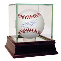 A. J. Burnett Signed OML Baseball with High Quality Display Case (Steiner COA  MLB Hologram)