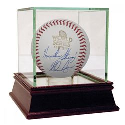 "Nolan Ryan Signed 2017 World Series Baseball Inscribed ""Houston Strong"" with High Quality Display Ca"